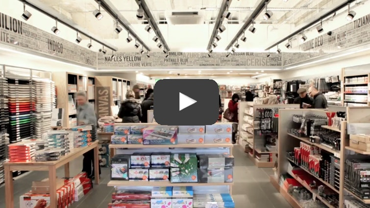 Interview with Angus Hyland about the Cass Art Kingston Store Design.