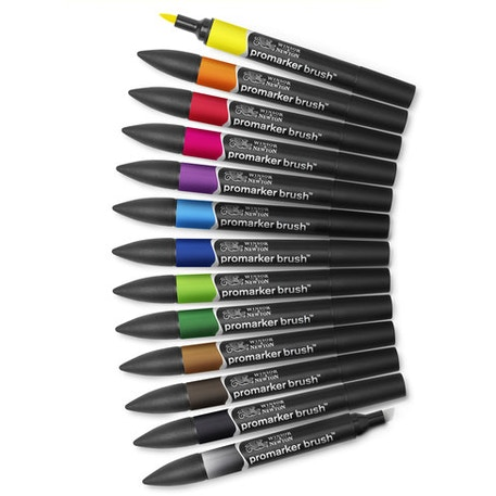 Winsor & Newton Brush Marker Set of 12 | Cass Art