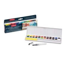 Derwent Inktense Paint Pan Travel Set of 24