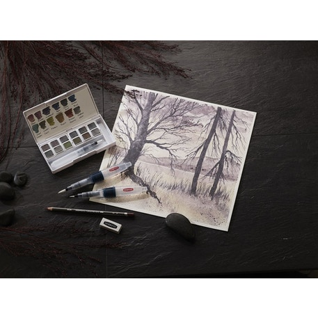 Derwent Graphitint Paint Pan Palette Set of 12