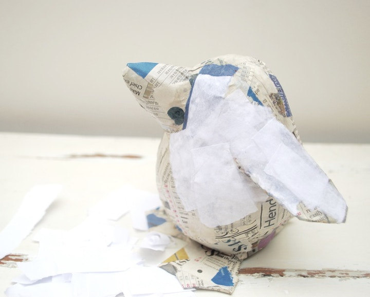 How to make a christmas paper pets penguin cass art for Finishing paper mache