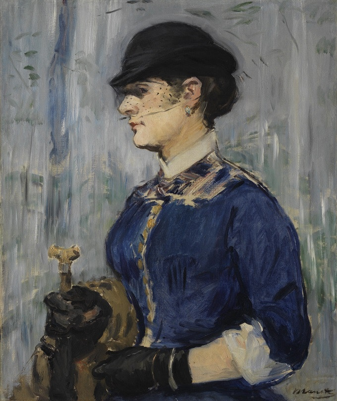 Woman in a Round Hat