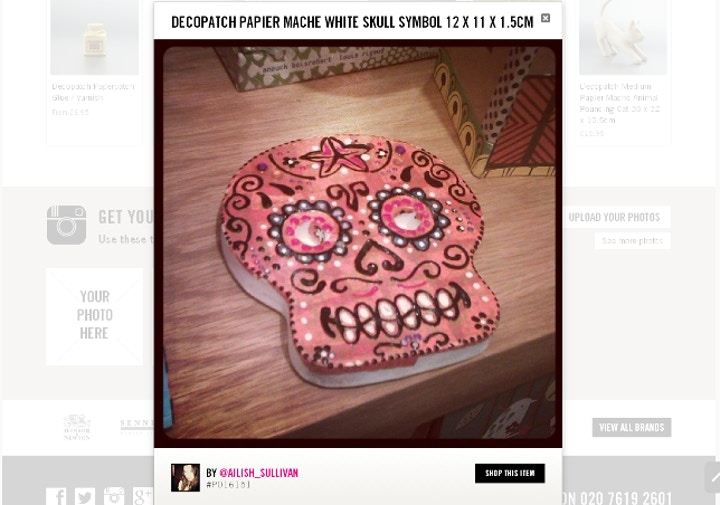 A decopatch skull on display on our online art supplies shop.