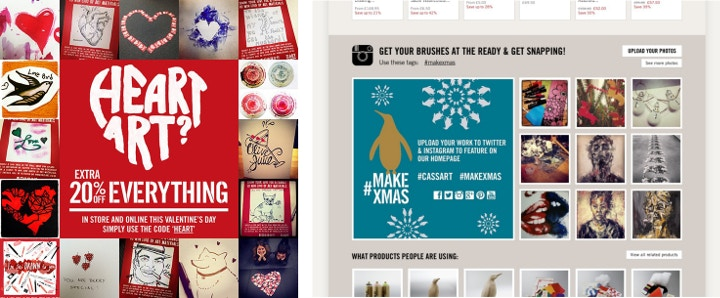 Examples from previous social media campaigns.