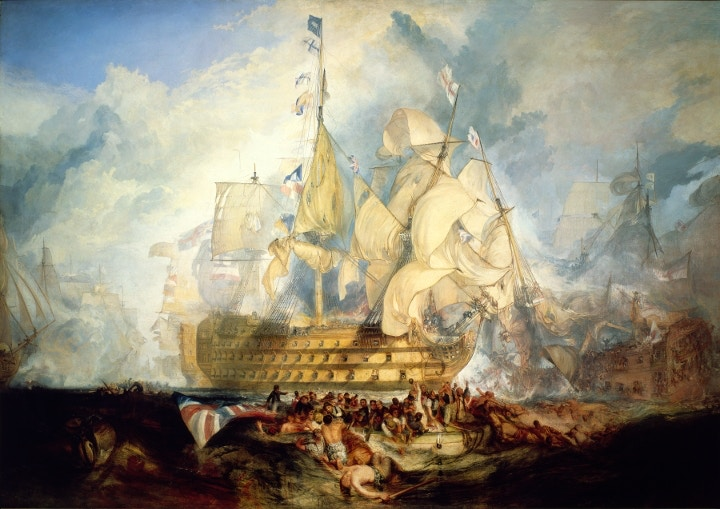 The Battle of Trafalgar, 21 October 1805, J. M. W. Turner, 1822-24, National Maritime Museum, Greenwich Hospital Collection