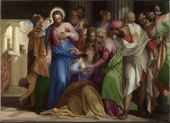 Paolo Veronese (1528-1588), The Conversion of Mary Magdalene, about 1548, Oil on canvas, 117.5 × 163.5 cm, © The National Gallery, London