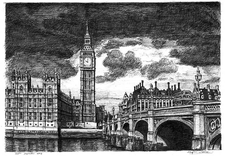 Stephen Wiltshire, London drawing, Cass Art blog