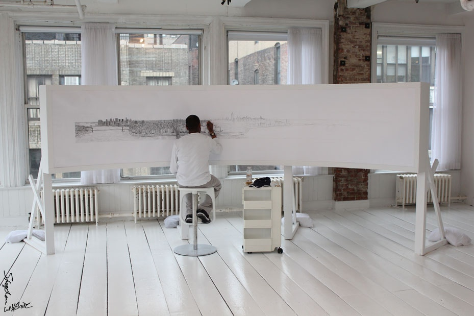 Stephen Wiltshire drawing, Cass Art blog