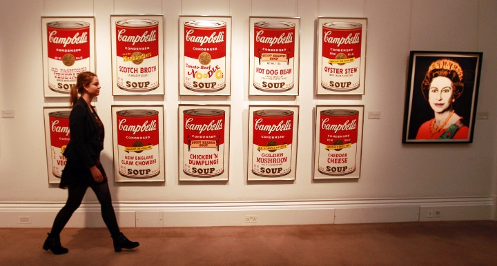 Andy Warhol Campbell Soup, Cass Art blog