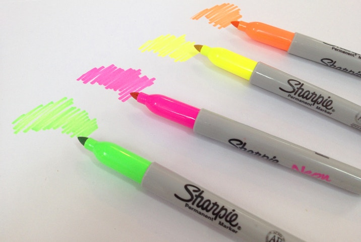 Neon Sharpies in 4 colours