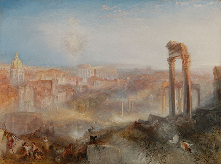 Turner, Modern Rome, painting