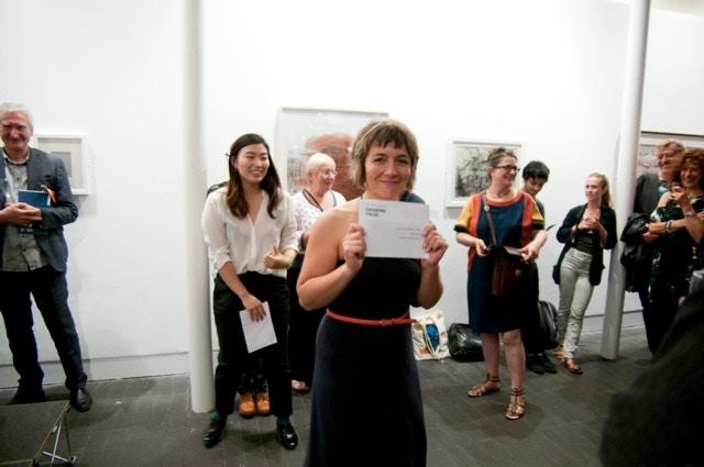 Winner Alison Carlier at Jerwood Drawing Prize 2014