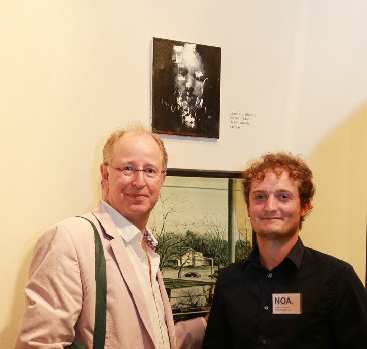 Mark Cass, CEO of Cass Art, with Jean-Luc Almond and his painting