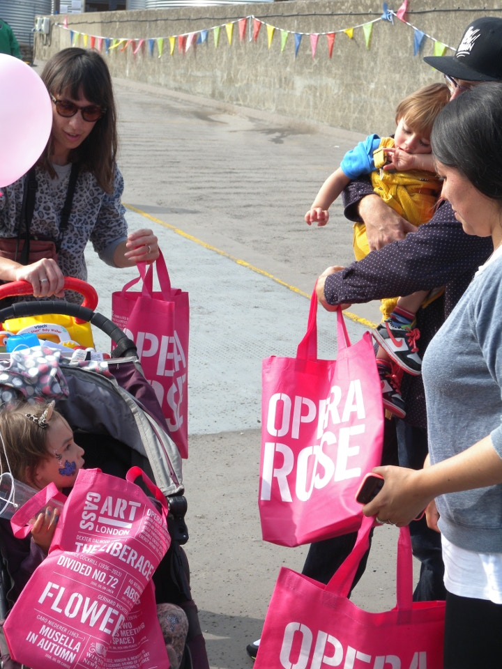 Opera Rose Cass Art bags at Bold Tendencies Family Day
