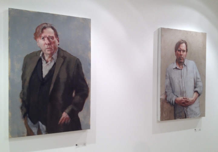 Timothy Spall in Tim Wright's paintings