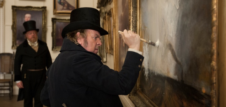 Mr. Turner with a paintbrush