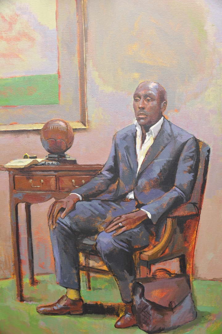 Raoof's portrait of Sol Campbell