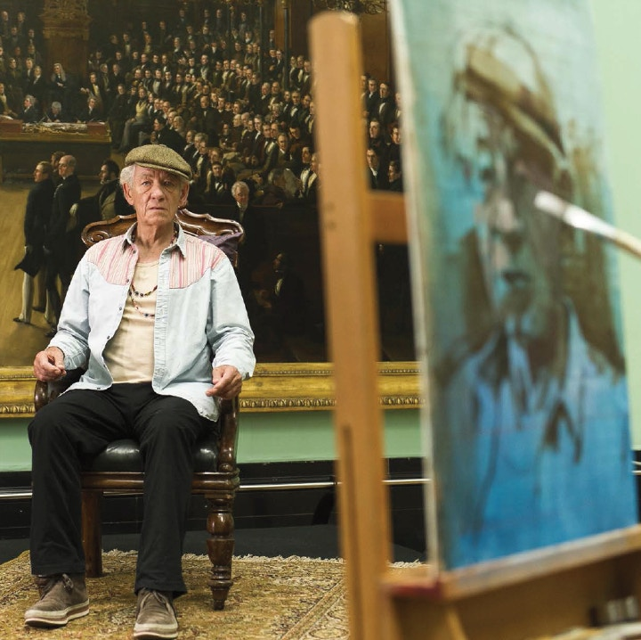 Ian McKellan at Sky Arts Portrait Award