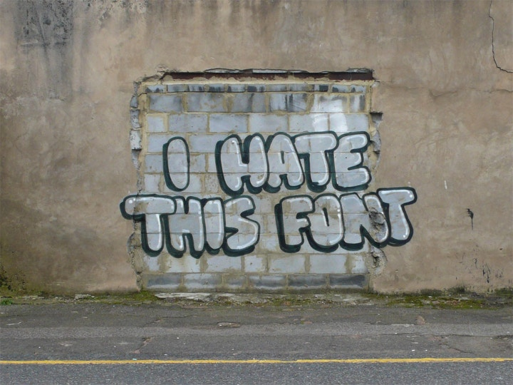 Banksy I hate this font