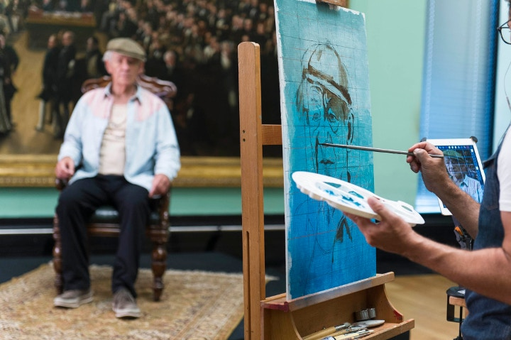 Christian Hook painting Ian McKellen
