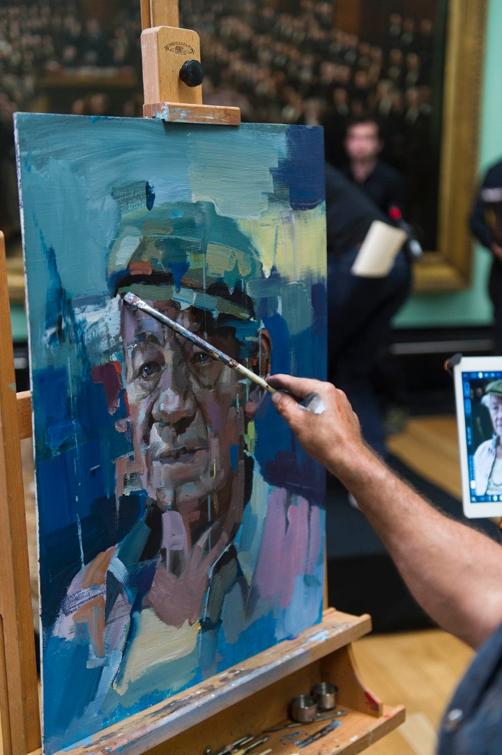 Christian Hook's painting of Ian Mckellen