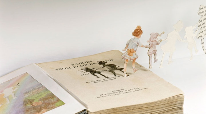 Betty in Cloudland Book Sculpture