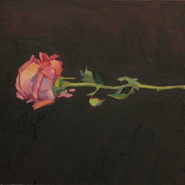 Lachlan Goudie Rose Oil Painting