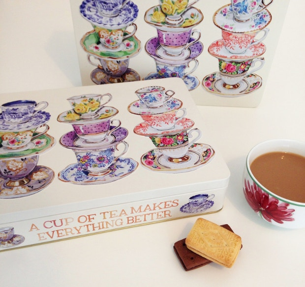 Watercolour of teacups