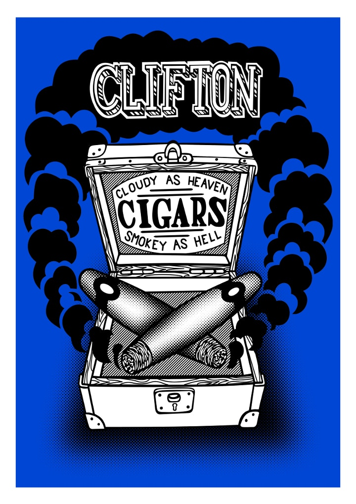Clifton Cigars print by Ben Ricketts