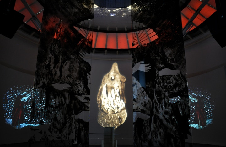 Lara Smithson video and painting
