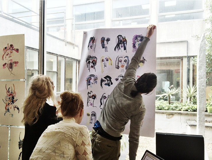 London college of fashion DRAW FASHION