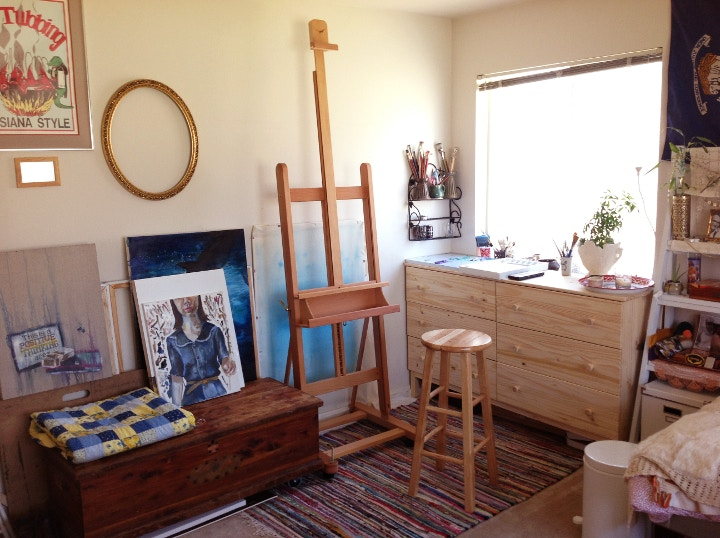 Mabef easel in artist studio