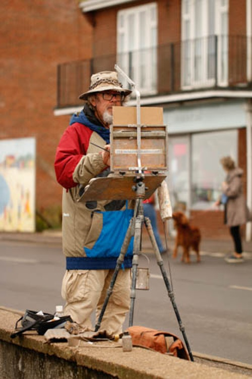 Artist at Paint Out Wells