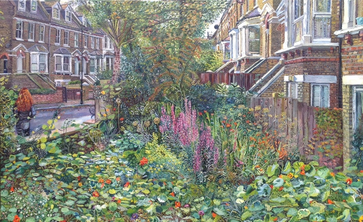 Front garden painting