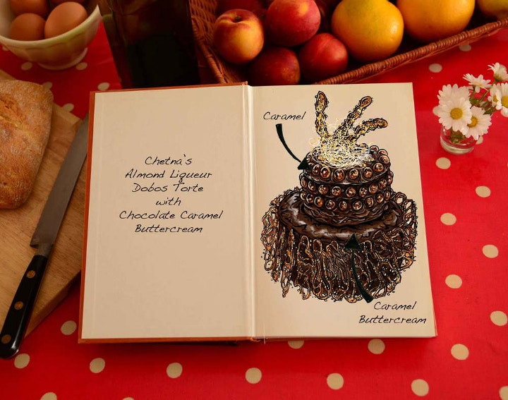 GBBO cake illustrations
