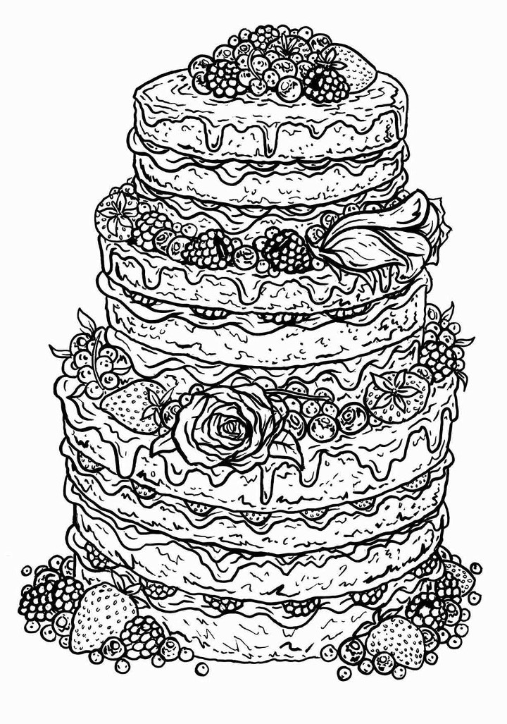 Hand drawn cake illustration