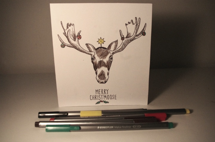 Add festive sparkle to your greetings card