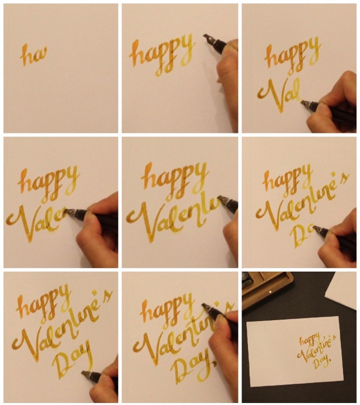 loopy lover calligraphy