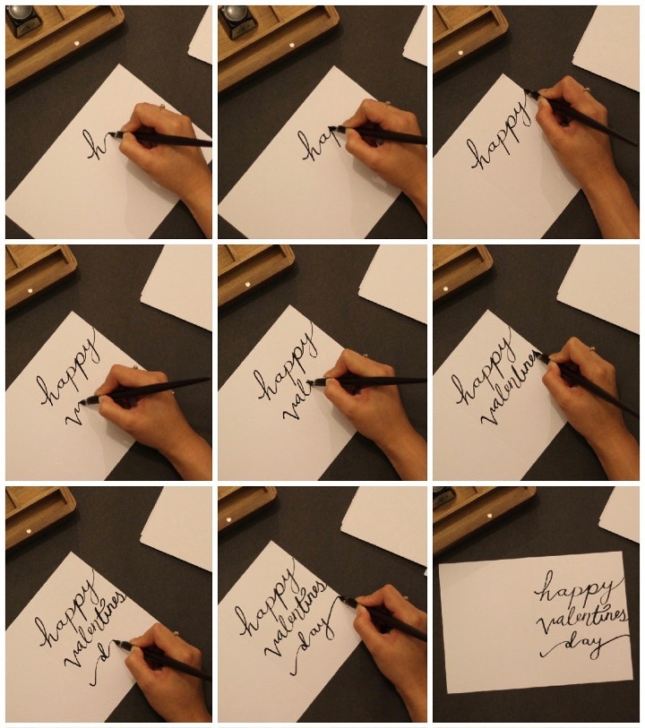 free flow calligraphy