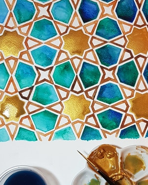 Draw & Paint Islamic Geometry - Full Day Saturday Workshops
