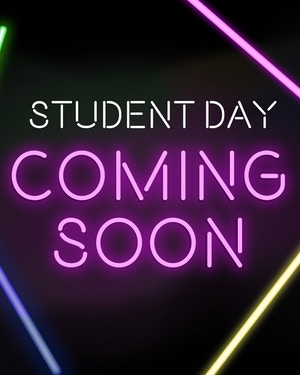 Student Days are coming!