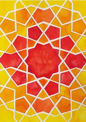 CANCELLED UNTIL FURTHER NOTICE - Drawing & Painting Islamic Geometry - Sunday Workshops
