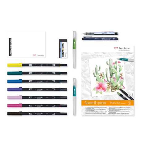 Tombow Have Fun at Home Watercolouring Set of 14 |