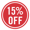 SALE - 15% off (Red)
