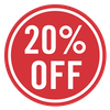 SALE - 20% off (Red)
