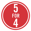 SALE - 5 for 4