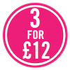 3 for £12