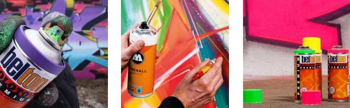 A Guide to Spray Paint Features and Brands | Cass Art