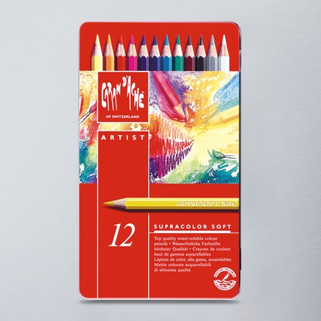 Caran D'ache Supracolor Soft Watersoluble Artists' Pencils Set of 12 | Cass Art