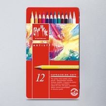 Caran D'ache Supracolor Soft Watersoluble Artists' Pencils Set of 12